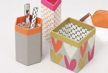 My office desk / Beautiful stationery and filing system for my desk