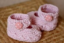 crotchet baby shoes
