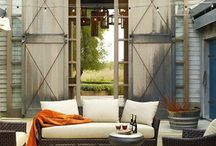 Rustic Outdoor Spaces by Season in a Trunk / Rustic. Organic. Texture. Farmhouse. Comfortable.#outdoorliving