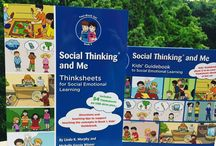 """Social Thinking and Me / Introduce and reinforce our award winning core Social Thinking Vocabulary and concepts to individuals ages 9-13 using this two-book set. The Kids' Guidebook introduces concepts and the companion Thinksheets book offers """"mini lesson plans"""" to explore them more deeply. Designed for both parents and professionals to use with the child so that everyone is on the same page and the learning is carried over into all environments."""
