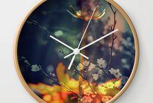 Wall Clocks // Society6 / https://society6.com/juledecule/wall-clocks