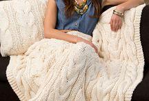 štrikované deky