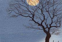 Hare in moonlight