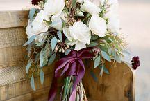 B+B Wedding / Burgundy & Blush bouquets and inspiration