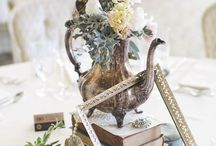 Wedded Weekend 2017: Natural Love / Herb Bouquet and Boutonniere, Muted Colors, Sentimental Details, Tea Pots and Tea Cups