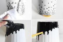 Peinture petits pots / Petits pots à peindre