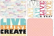 printables / cartes de project life