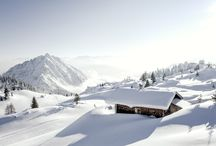 austria mountains in winter