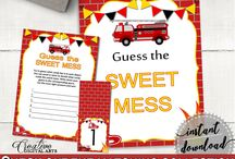 Baby Shower Products in Fireman Theme, Invitations, Games, Decorations And More / Hi, thank you for visiting this beautiful baby shower board with products in Fireman theme. Here, you'll find different invitations, games and activities, decorations and more with over 40 products in this theme.