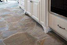 Stone Floor Kitchen