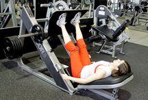 Lying Leg Press on Sled Machine
