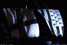 La nuit des étoiles 2014 / La nuit des étoiles 2014 à Tréflez, une soirée inoubliable où les deux plus grands drapeaux bretons du monde ont été hissés. http://bretagne-web.fr/couleurs-bretagne par le Druide