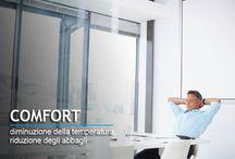 Pellicole per vetri di tipo antisolare / Pellicole a controllo solare riduzione del calore e risparmio energetico www.ventotto.net
