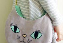 kedi kumaş çanta