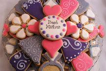 Bridal shower and wedding sugar cookie favors/ arrangements