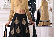 Cream Designer Anarkali Suits / Fashion Fiza - Cream Wedding Special Salwar Suits Collection with latest designs.