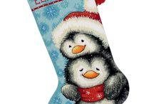 Bota de pingüino de Navidad