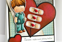 Cards_Get Well / Get Well  theme cards made using Whimsie Doodles Clear Stamps