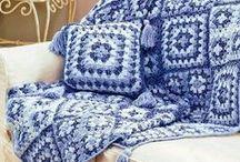 capa sofá croché
