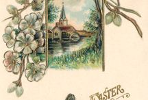 Easter Chicks / Recently acquired Easter postcards, featuring chickens, from the Visual Studies Collection at Library of Virginia.