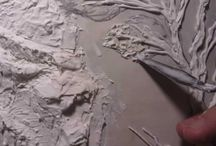 working with plaster