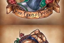 Disney princesses tattooed