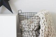 deko z drátěných košů