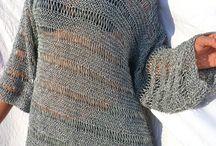 maglia donna a ferri