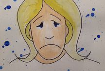 Sadness in Art Therapy / Sadness depicted in art