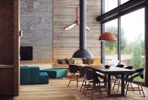 Industrial Interior Design / Industrial interior design focuses on combining raw textures and materials, to create an almost unfinished look. This style involves using neutral tones, utilitarian objects, and wood and metal surfaces.