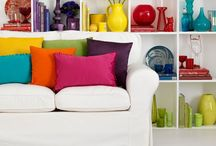 Multi coloured decor