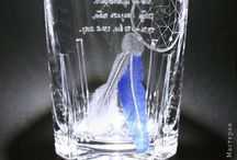 My works / My glass engravings - made for my parents, friends and some on order