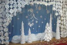 НовогоднЯя декорация в школе