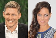 Ana Ivanovic and Bastian Schweinsteiger / Ana Ivanovic was born on 6 November 1987 in Belgrade is a Serbian tennis player. Bastian Schweinsteiger was born on 1 August 1984 in Kolbermoor is a German footballer .To Manchester United in the English Premier League