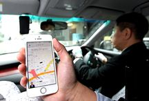 """It's super convenient! Have you heard about """"Uber"""", the taxi you can hail using your smartphone?"""