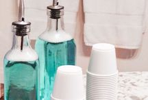 Home Organization Hacks / Organization and clutter hacks to declutter your countertops and shelves.