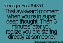 Awkward moments - Teenager posts