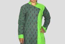 Baju Batik Wanita Kombinasi Embos, Blus Batik B1339