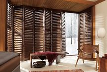 Wooden louvres