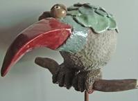 vogel op stok