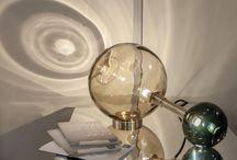 Transparent glass table lamps