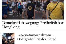 #occupyHk teargas headlines / 本來在普通鍵戰,但驚聞觸動催淚彈多手用部新投的iphone6來開開世界各大新聞app,唔開尤是可,一開就..... http://www.vjmedia.com.hk/articles/2014/09/29/86449