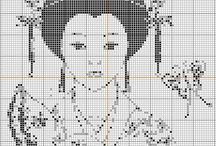 Cross stitch - Asians