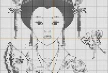 Cross stitch - Asians