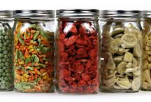 Feast in Famine / Dried and cooked goods in canning jars, vacuum sealed for a rainy day! / by Green Queen