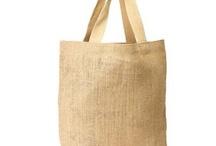 Jute Burlap Grocery Tote Bag