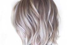 blond grey hairs