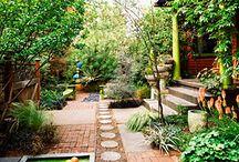 landscaping / sideyard patio / back deck