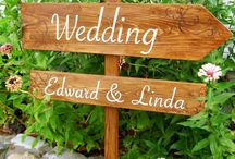 Wooden Country Wedding Signs