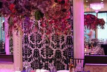 hanging centerpiece / luxury florals  hanging centreieces